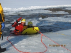 RIVERx/All-Season Water and Ice Rescue Boards $735/ + $100 Removable Ice Rail Kit.
